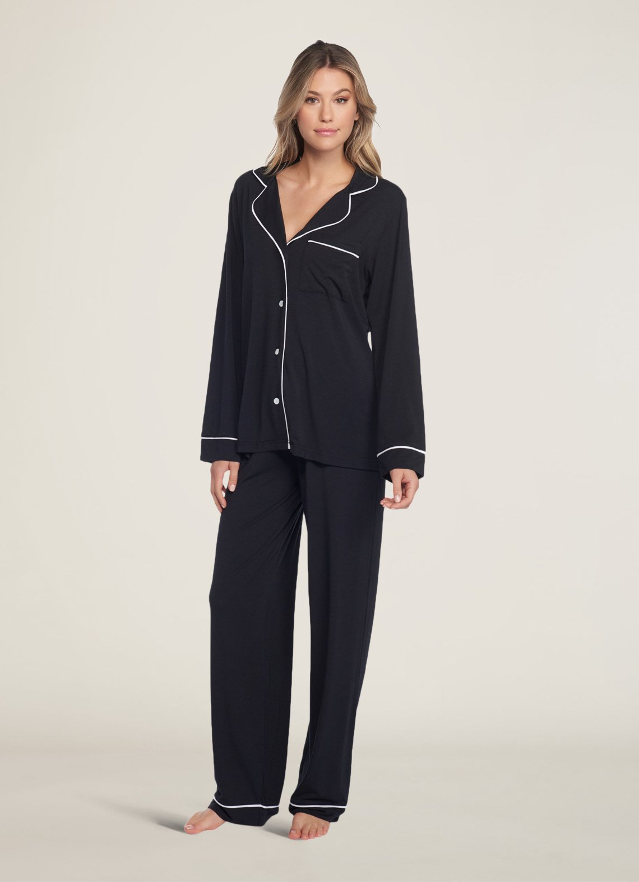 ◯186 Piped Pajama Set