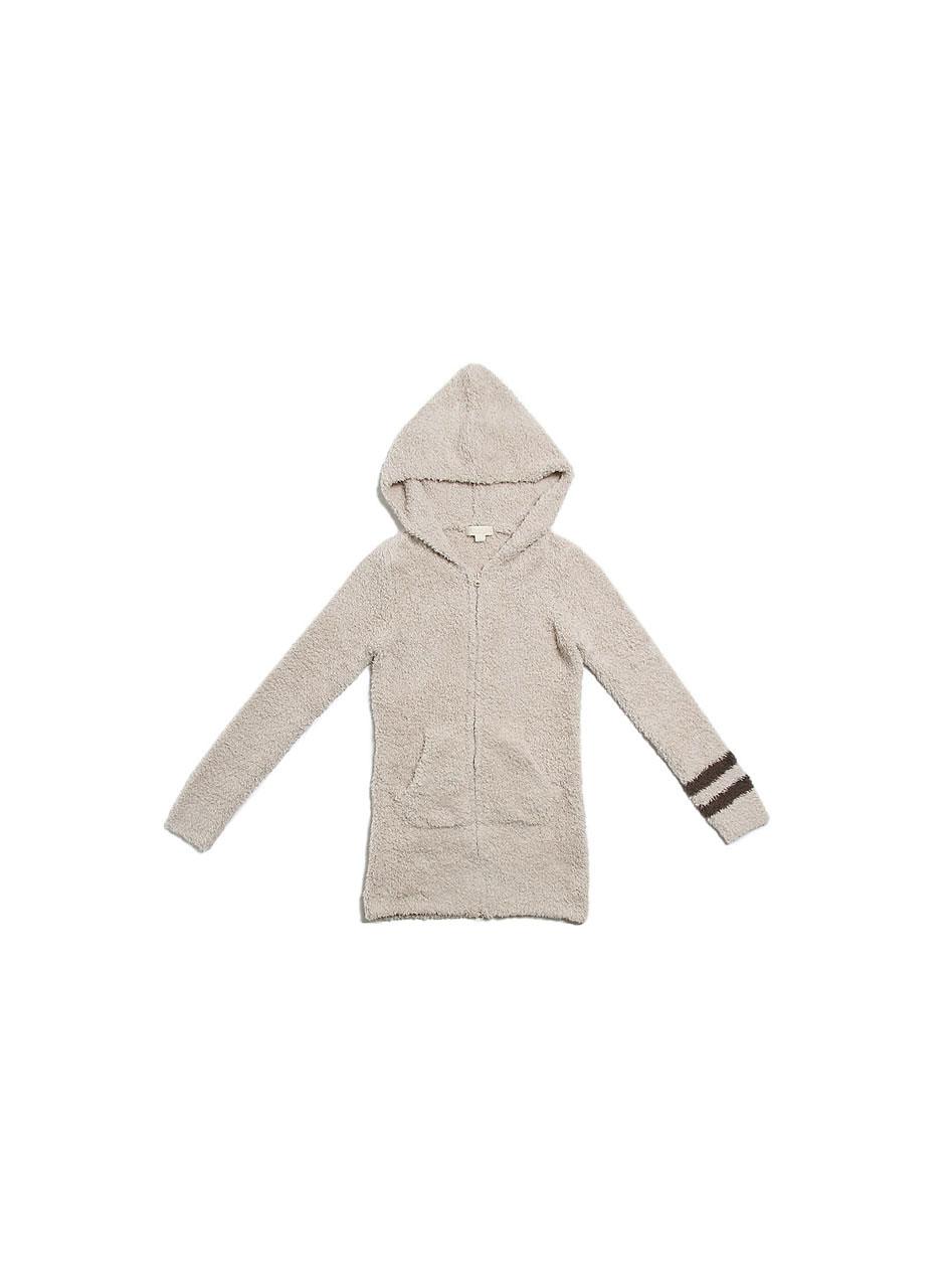 Women's long zip hoodie with stripe C595