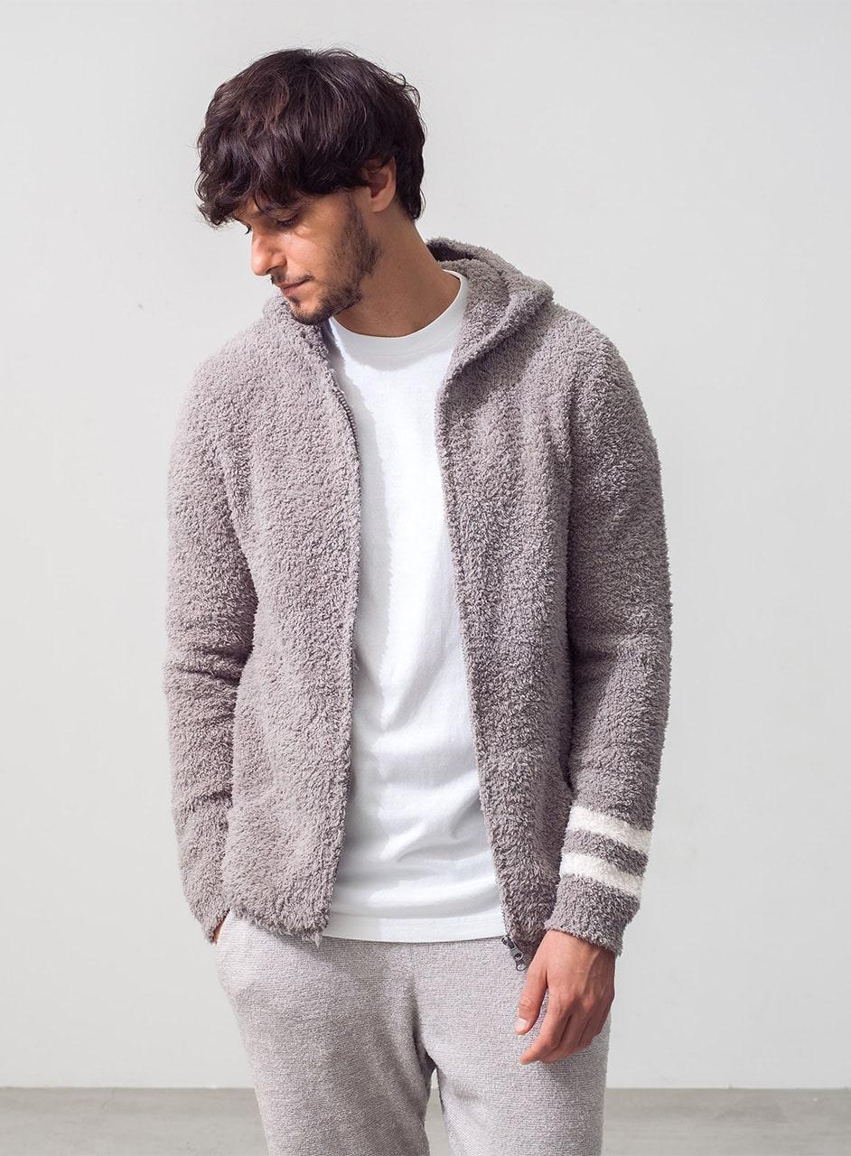 Men's zip hoodie with stripe C594